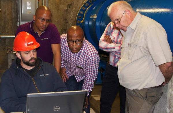 <p>Johannesburg officials visit the Lucid Energy hydropower project in Portland.</p>