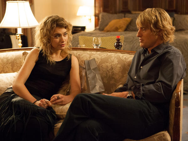 Owen Wilson and Isabella Imogen Poots in <em>She's Funny That Way</em>.