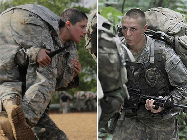 The first women to pass the Army's elite Ranger training, Capt. Kristen Griest (left) and 1st Lt. Shaye Haver (right), will receive their Ranger tabs when they graduate Friday.
