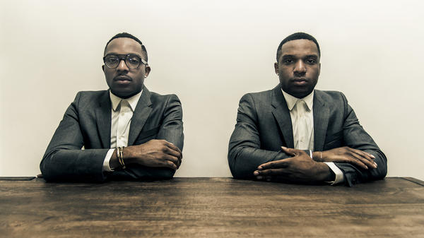"""""""We've learned so much from this album,"""" Kehinde Hassan (right) says. He and his twin brother, Taiwo Hassan, just released <em>FW14</em> as Christian Rich."""