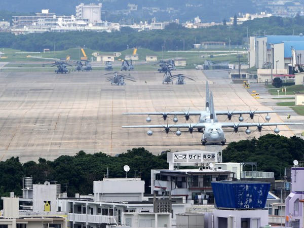 This picture taken on April 24, 2010 shows the US Marine Corps Air Station Futenma base in Ginowan, Okinawa.