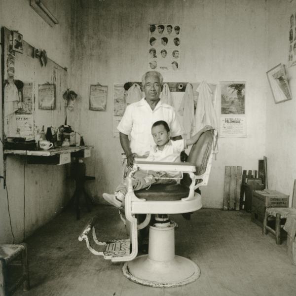 "Peluqueria- ""Barber Shop"", Pinotepa Nacional, Oaxaca, Mexico, 1990."