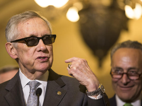 Senate Minority Leader Harry Reid of Nevada announced Sunday he is supporting the president's Iran nuclear agreement.