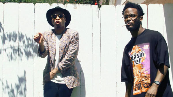 """Anderson .Paak and Knxwledge of NxWorries appear in a scene from their new video, """"Suede."""""""