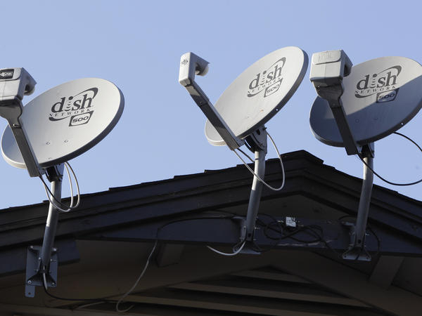 Dish Network satellite dishes mounted on an apartment building roof in Palo Alto, Calif. A dispute with Sinclair Broadcasting Group has blocked local stations for over 5 million people.