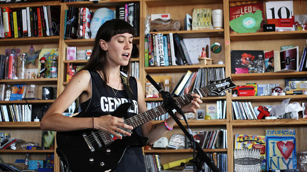 Gabrielle Smith performs as Eskimeaux at a Tiny Desk Concert on July 14, 2015.