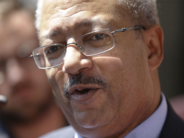 Rep. Chaka Fattah, D-Pa., arrives at the federal courthouse in Philadelphia earlier this month. Fattah has been indicted on charges he misappropriated hundreds of thousands of dollars of federal, charitable and campaign funds.
