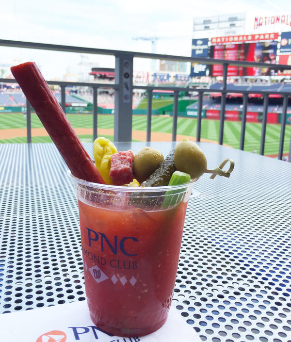 A Bloody Mary served with a meat straw at Nationals Park in D.C.
