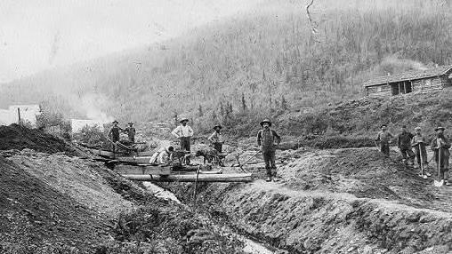 Gold prospectors in El Dorado, Calif., circa 1848-1853.