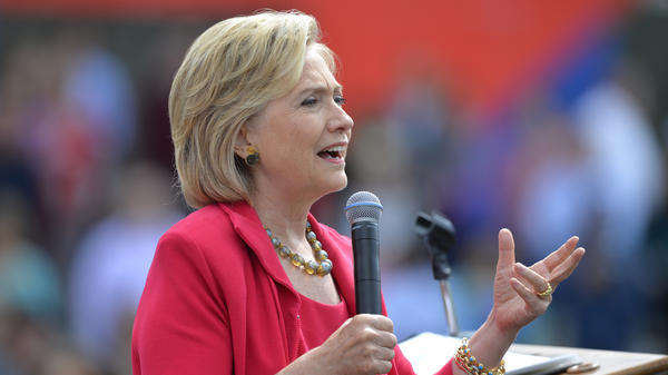 Democratic presidential candidate Hillary Clinton speaking in Cleveland last week. She has said that nothing in her emails was marked classified.