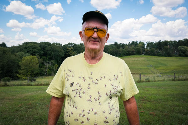 Terry Shanor, a beekeeper from Butler County in western Pennsylvania. A co-op of beekeepers in the region are trying to breed tougher honey bees that can survive cold winters and fight back against parasitic mites.