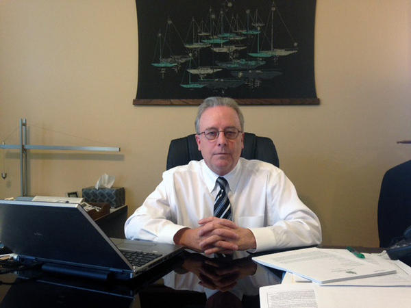 """State Auditor Doug Hoffer, shown here in his office in November, 2014,  says Vermont isn't doing enough to stop a practice known as """"misclassification"""" of workers."""