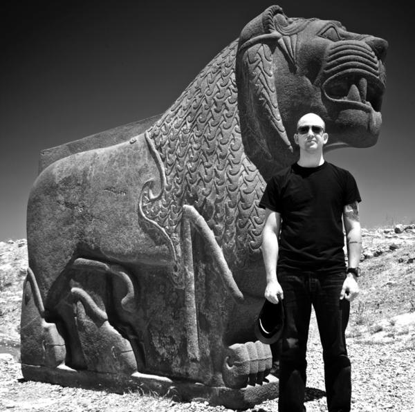 Archivist Jason Hamacher at the archaeological site of Ain Dara, Syria, in 2010.
