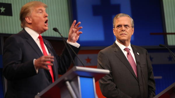 Donald Trump and Jeb Bush were polite to each other at the first GOP debate. But it's been gloves off since then, especially on Instagram, a social media outlet not known for its vitriol.