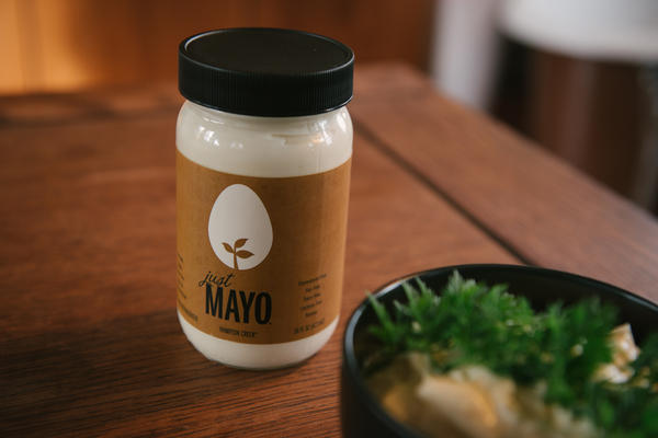 Just Mayo looks like mayonnaise and tastes like mayonnaise but contains no eggs. That's ruffled the feathers of the egg industry.