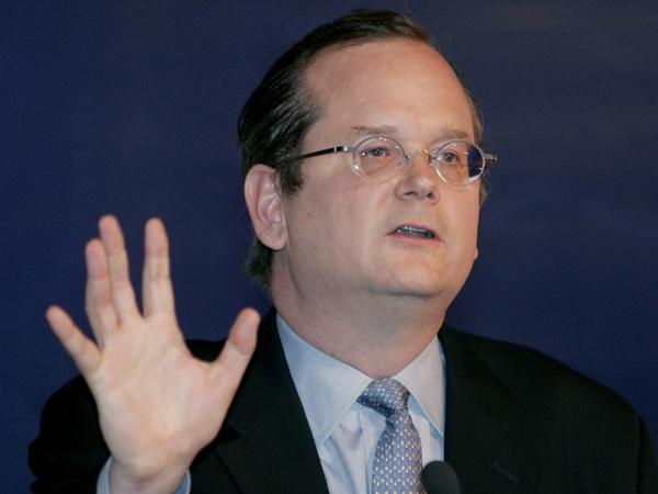 Harvard Law professor Lawrence Lessig lists Facebook's Sheryl Sandberg and former <em>Daily Show </em>host Jon Stewart as possible running mates among those from whom visitors to his website can choose.