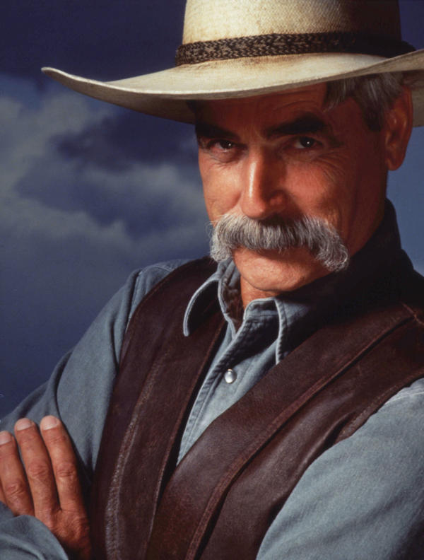 "Sam Elliott played The Stranger in the Coen brothers film <em>The Big Lebowski</em>. ""That was great fun,"" he says. ""The Coen brothers are such brilliant guys."""