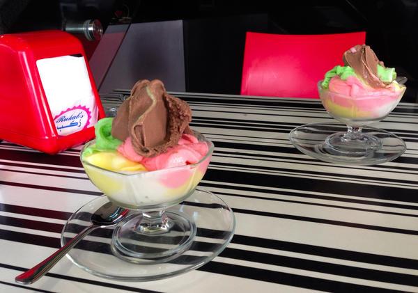 """Rukab's classic """"mixed"""" ice cream dish"""