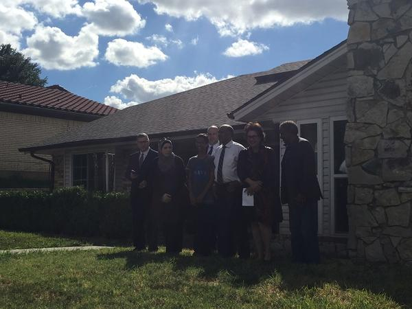 Ahmed Mohamed was surrounded by family members at a press conference Wednesday afternoon in Irving.