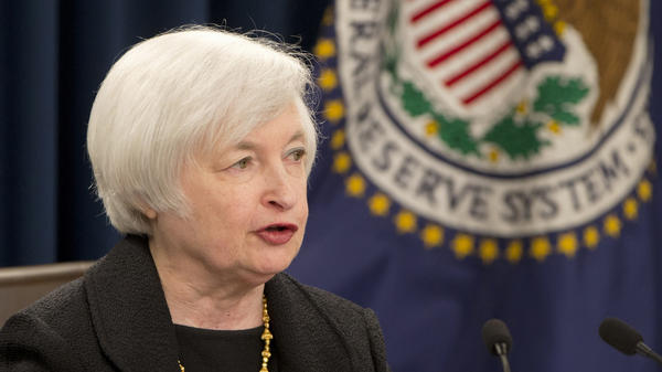 Federal Reserve Chair Janet Yellen, speaking at a news conference in Washington on Thursday, said the U.S. economy has been performing well but the global outlook is more uncertain.