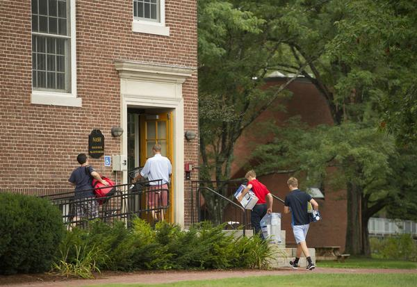 Students at St. Paul's School in Concord are officially all moved in as of last week. Classes resumed on Tueday, September 16.