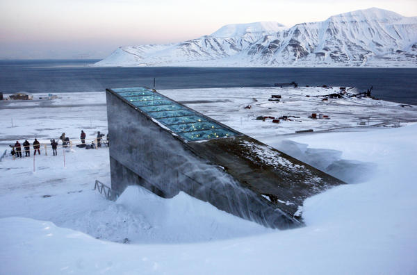 """The Svalbard Global Seed Vault was inaugurated in 2008. The """"doomsday vault"""" lies inside an Arctic mountain in the remote Norwegian archipelago of Svalbard. For the first time, scientists are taking some seeds out."""