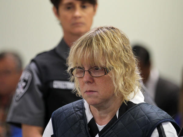 Joyce Mitchell appears in court in Plattsburgh, N.Y., on Monday. She was sentenced to 2 years and four months to 7 years in prison as part of a plea deal.