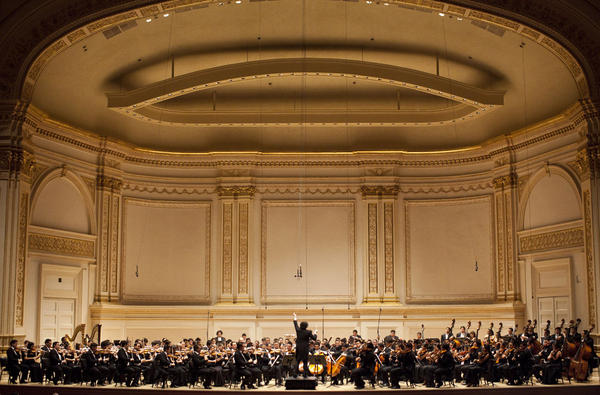 There was a full house at the Isaac Stern Auditorium at Carnegie Hall for this concert, the first of two nights for Gustavo Dudamel and his Simón Bolívar Symphony.