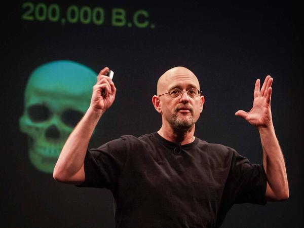 Psychologist Dan Gilbert speaking at TED.
