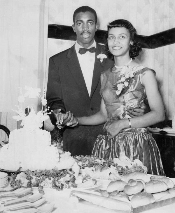 Dumas and his wife, Loretta Dumas (Ponton), on their wedding day.