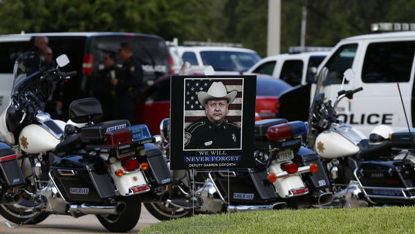 "The funeral for Harris County Sheriff Deputy Darren Goforth was held Sept. 4 in Houston. After Goforth was fatally shot at a gas station on Aug. 29, some spoke about a ""war on cops."" But while 2014 did see more officer deaths than 2013, one expert says that's not a sign of a statistically significant spike."