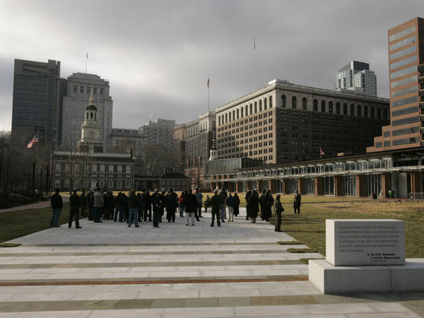 The People's Plaza on Independence Mall in Philadelphia.