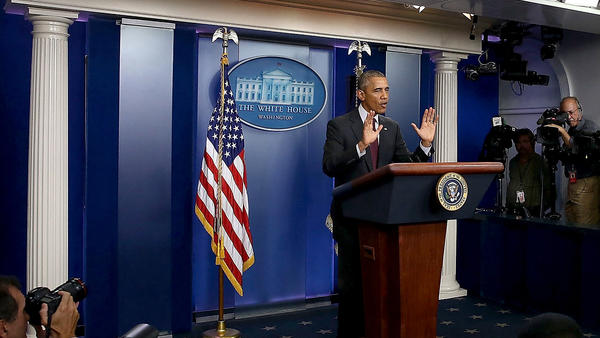 """""""It can not be this easy for somebody who wants to inflict harm on other people to get his or her hands on a gun,"""" President Obama said Thursday."""