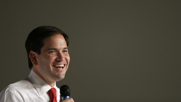 Marco Rubio, R-Fla., speaks at a town hall meeting Thursday in Cedar Falls, Iowa.