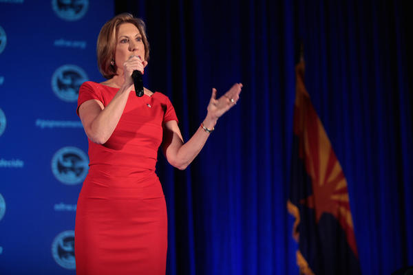 Former Hewlett-Packard CEO Carly Fiorina campaigns for the Republican Party's nomination for the 2016 presidential election.