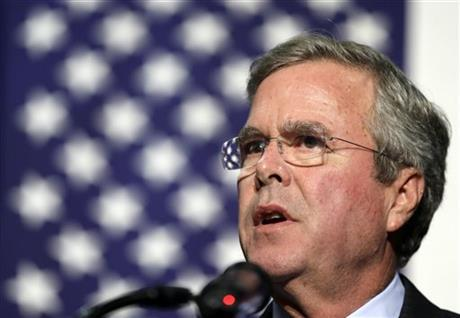 ormer Florida Gov. Jeb Bush speaks during the Scott County Republican Party's Ronald Reagan Dinner, Tuesday, Oct. 6, in Davenport, Iowa