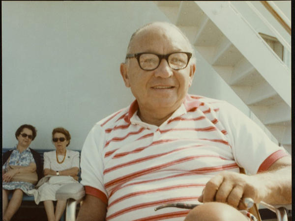 The last photo of Leon Klinghoffer, taken on the cruise ship Achille Lauro in 1985. He was killed there during a hijacking.