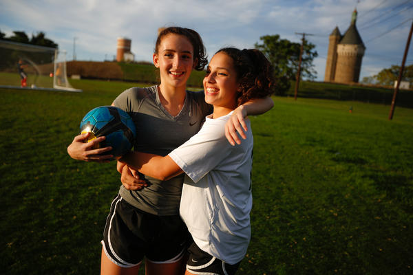 Eden and Danielle Breslow, 15-year-old twins who live in the U.S., can't imagine a world in which girls are discouraged from playing soccer. They've been at it since they were 4.