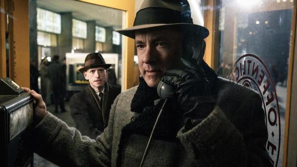 Tom Hanks as lawyer James Donovan in <em>Bridge of Spies</em>.