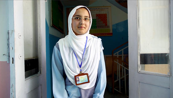 Hadia Durani is 15. She says she wants to be president when she grows up.