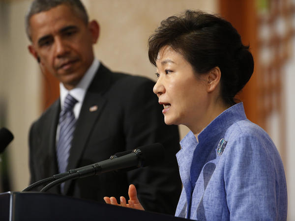 President Obama and South Korean President Park Geun-hye met in Seoul last year. This time they're on U.S. soil.