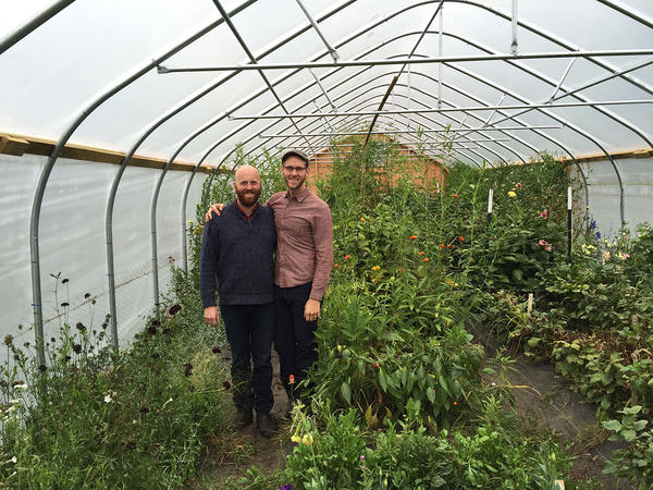 Bailey Hale and Thomas McCurdy, owners of Ardelia Farm & Co. in Irasburg, crowdsourced funds to create a greenhouse that would allow them to grow flowers year-round.