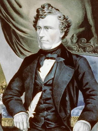 Franklin Pierce, circa 1853.