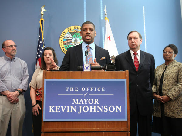 "Sacramento Mayor Kevin Johnson said his decision not to seek re-election ""was an incredibly difficult choice, but one that I feel confident about."""