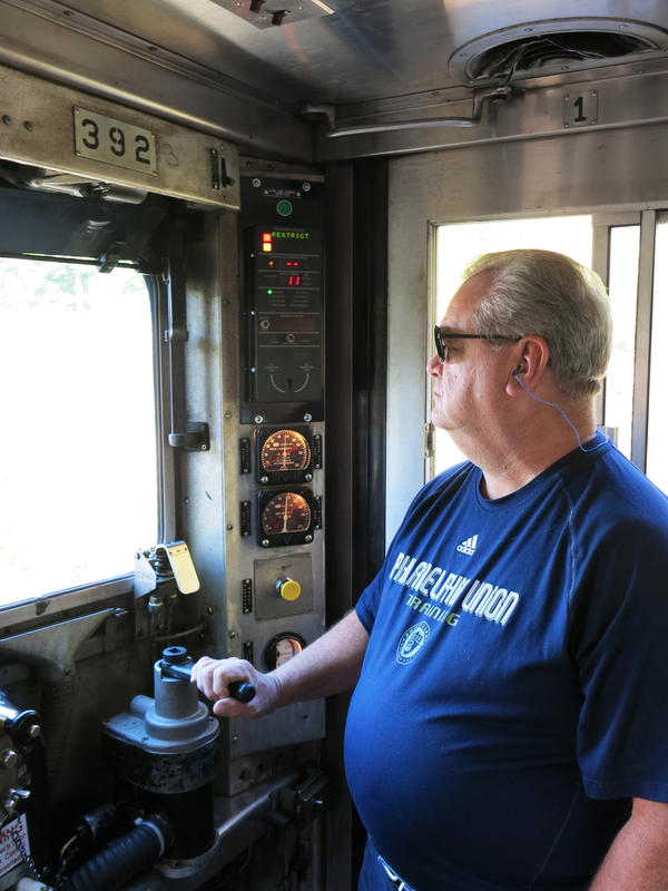 SEPTA locomotive engineer Steve Finnegan remains in control of a train using PTC. But if SEPTA reduces speed on a certain set of track or sends an order for the train to stop and he fails to comply, PTC will do it automatically.