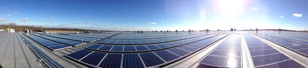 The solar array on the Staples Ohio distribution center.