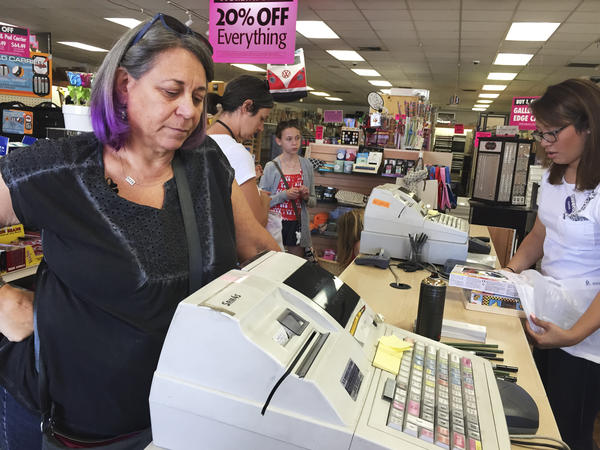 Sheree Woods, an art teacher at Sherman Oaks Center for Enriched Studies in Tarzana, Calif., hopes to spend less than $100 on this shopping trip for art supplies for her students.