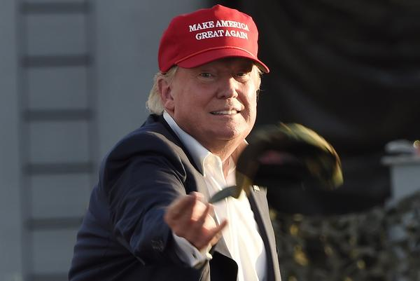 "Donald Trump has made hats embroidered with the phrase ""Make America Great Again"" — an icon of his campaign and frequent giveaway item during his rallies."