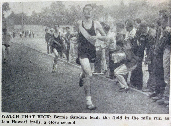 Bernie Sanders was known to teammates as a talented — and sometimes selfless — runner at James Madison High School in Brooklyn.