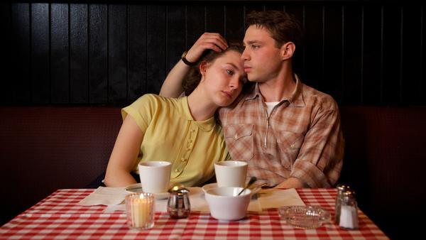 Saoirse Ronan as Eilis and Emory Cohen as Tony in <em>Brooklyn</em>.